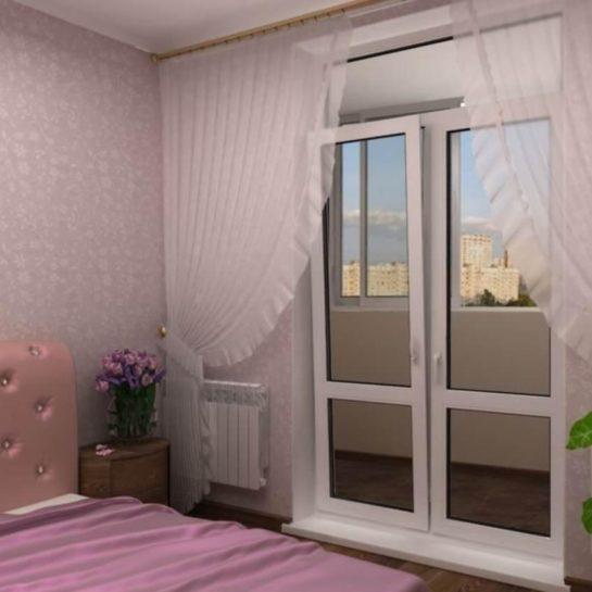 Поворотно-откидная балконная дверь