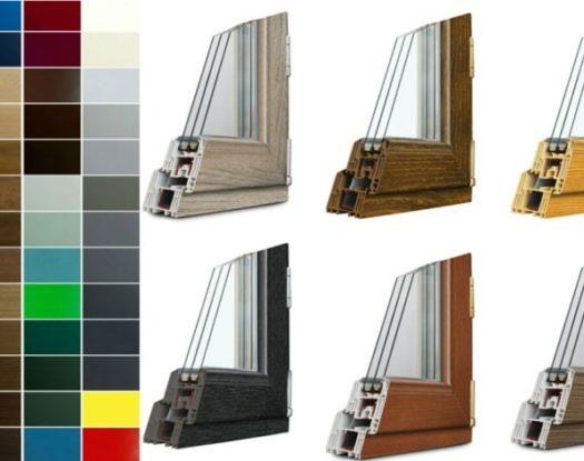 Ламинация пластикового окна Rehau