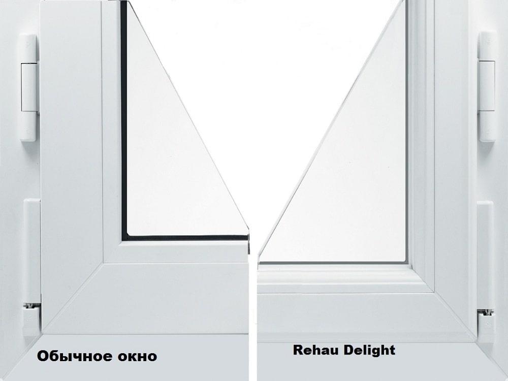 Высота рамы в Rehau Delight