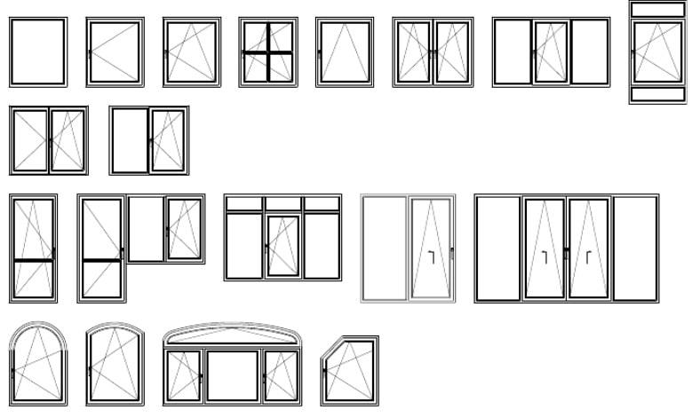 Типы створок Rehau Thermo-Design