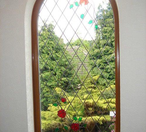 Витражное окно в частном доме