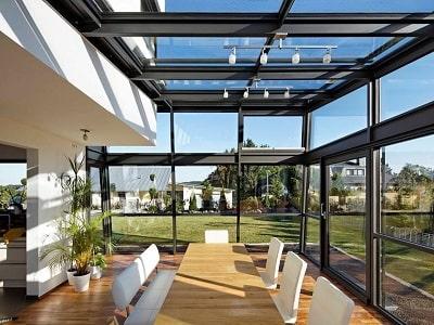 Остекление террас алюминиевыми конструкциями