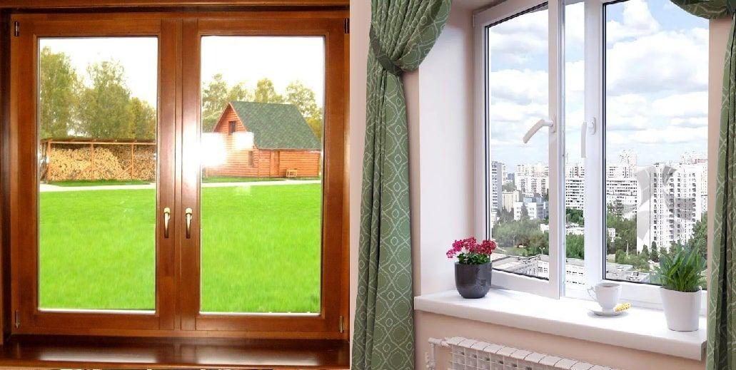 Какое ставить окно, пластиковое или деревянное