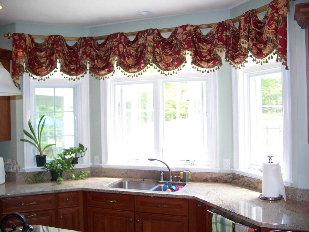 Эркерные пластиковые окна на кухне