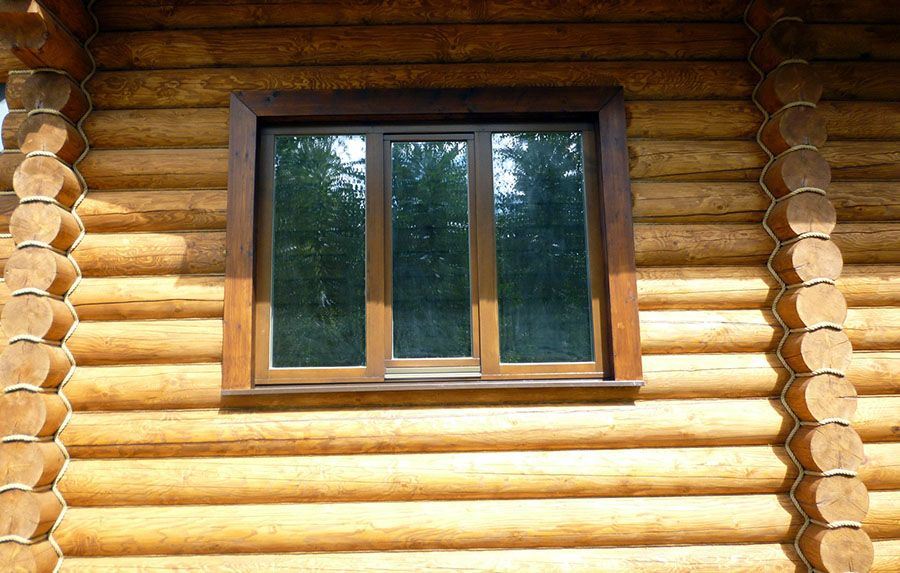 Окна в дома из сруба