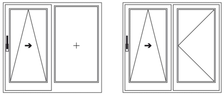 Схема открывания дверей Rehau