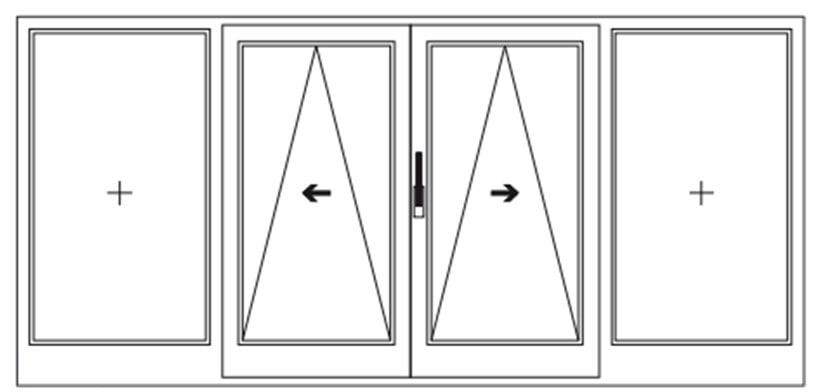 Схема открывания дверей Rehau 2