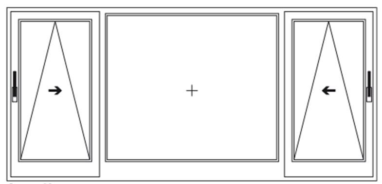 Схема открывания дверей Rehau 3
