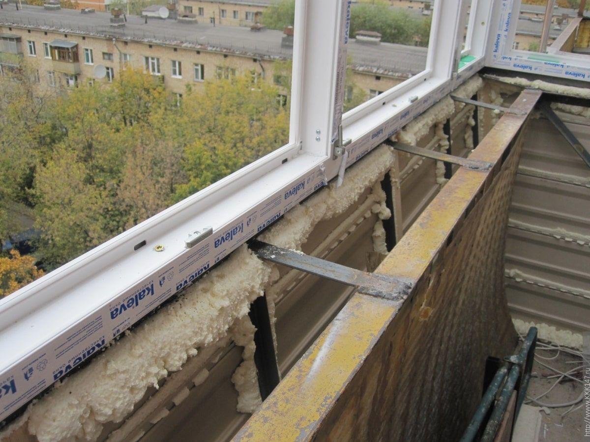 Ошибки при остеклении балкона