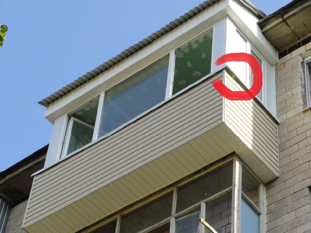 Пример ошибок при остеклении балкона