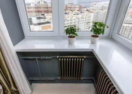 Переносим батарею на балкон