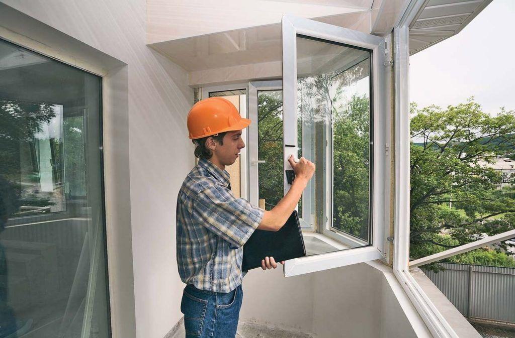 Распашные окна на балкон
