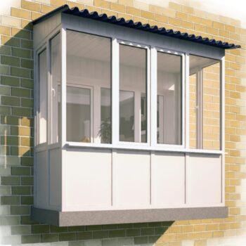 Вставить окна балкон