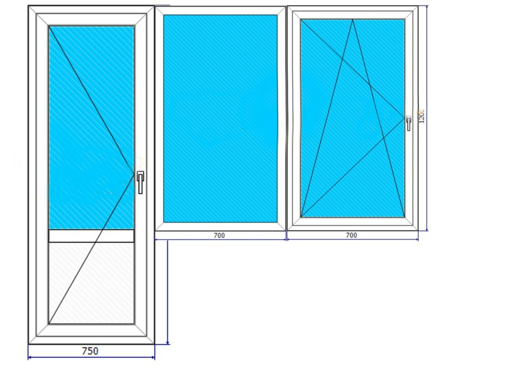 Проект балконного блока