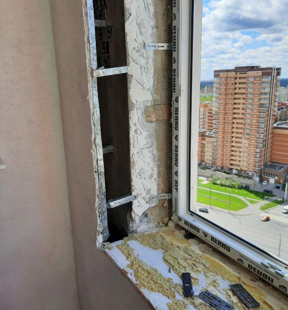 Демонтаж и установка новых окон