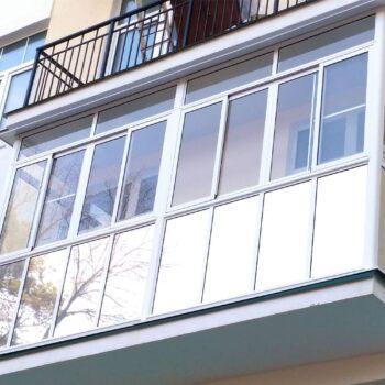 Теплый балкон с пластиковыми окнами