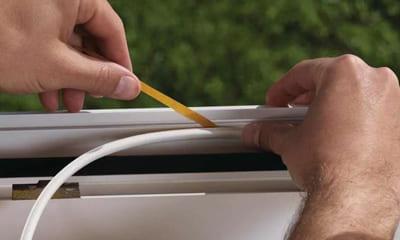 Монтаж уплотнителя для окна